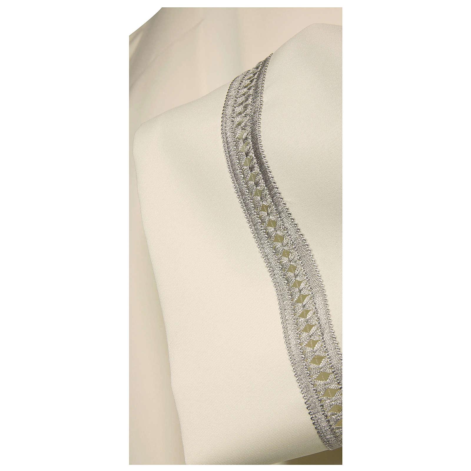 Camice avorio 100% poliestere gigliuccio argento macchina cerniera spalla 4