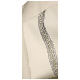 Camice avorio 100% poliestere gigliuccio argento macchina cerniera spalla s2