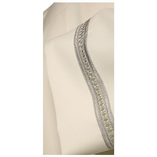 Camice avorio 100% poliestere gigliuccio argento macchina cerniera spalla 2