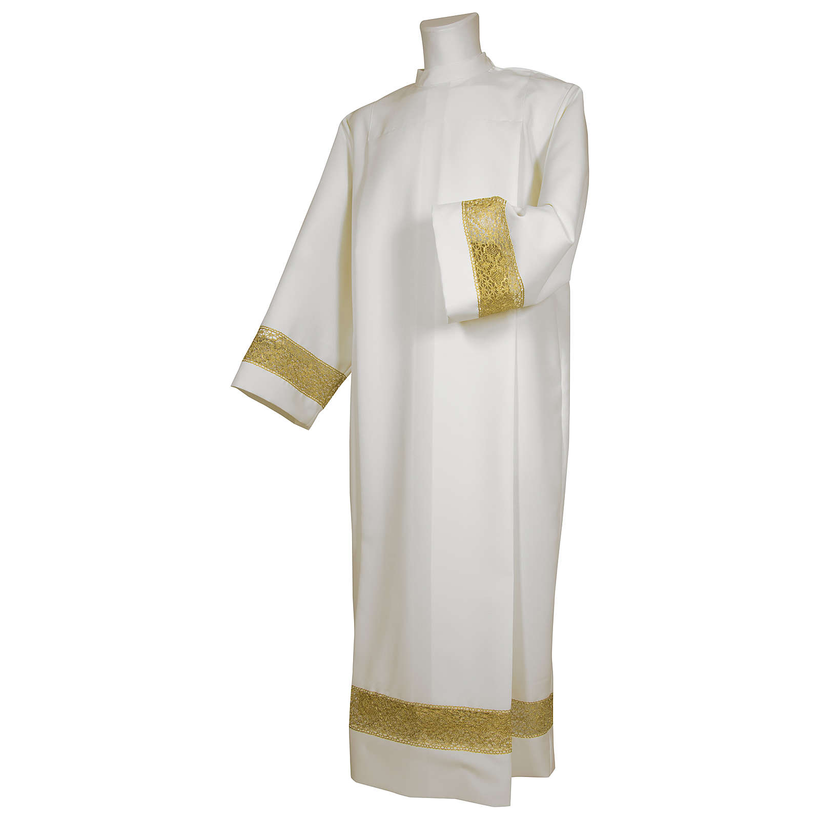 Camice bianco 65% poliestere 35% cotone tramezzo oro cerniera davanti 4