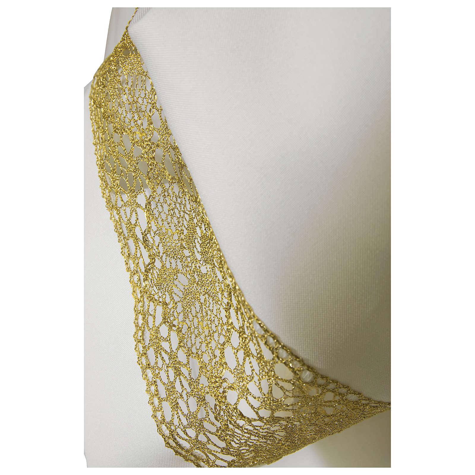 Camice bianco 65% poliestere 35% cotone tramezzo oro cerniera spalla 4
