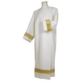 Camice bianco 65% poliestere 35% cotone tramezzo oro cerniera spalla s1