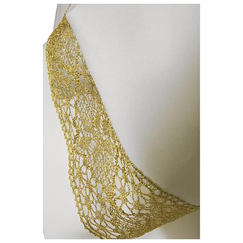 Camice bianco 65% poliestere 35% cotone tramezzo oro cerniera spalla 2