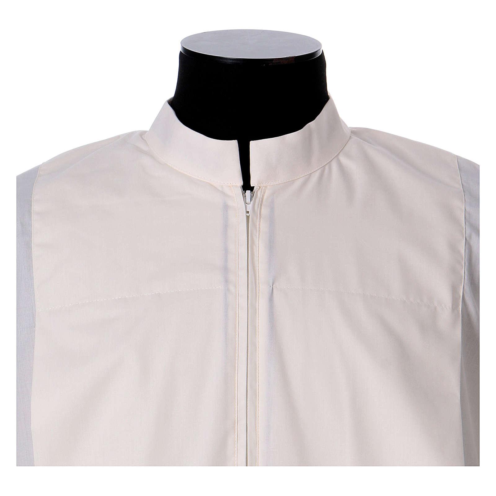 Alba marfil 65% poliéster 35% algodón dos pliegues cremallera parte anterior 4