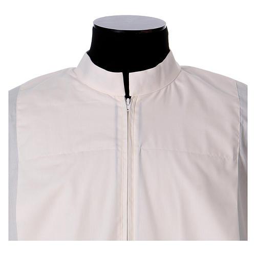 Alba marfil 65% poliéster 35% algodón dos pliegues cremallera parte anterior 2