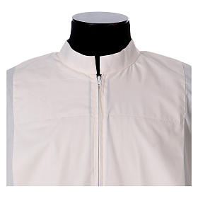 Priest Alb 65% polyester 35% cotton with 2 pleats and zipper on the front, ivory s2