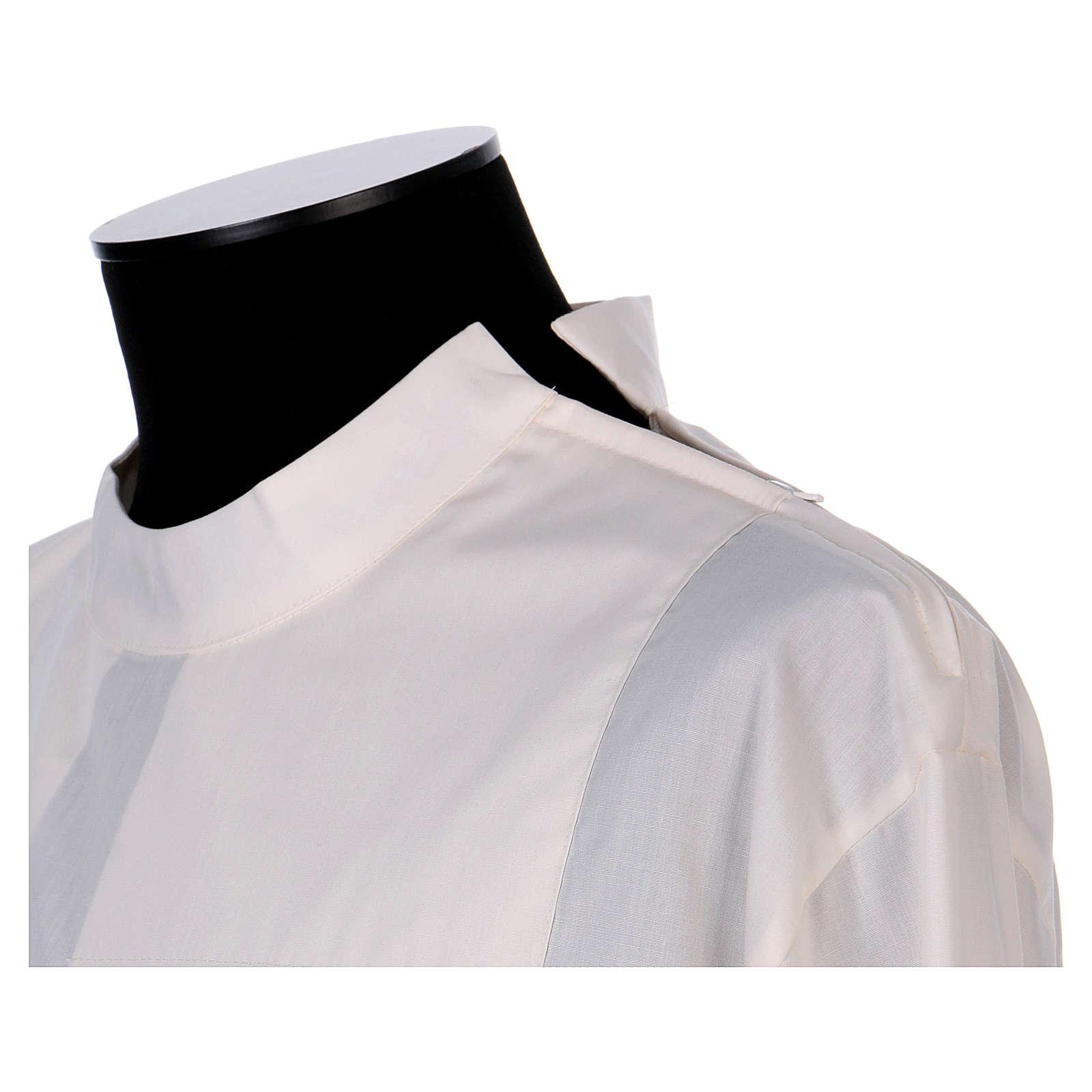 Camice avorio 65% poliestere 35% cotone due piegoni cerniera spalla 4