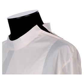 Camice avorio 65% poliestere 35% cotone due piegoni cerniera spalla s2