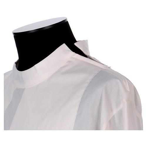 Camice avorio 65% poliestere 35% cotone due piegoni cerniera spalla 2