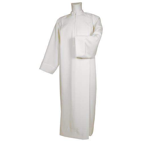 Camice bianco 65% poliestere 35% cotone due piegoni cerniera spalla 1