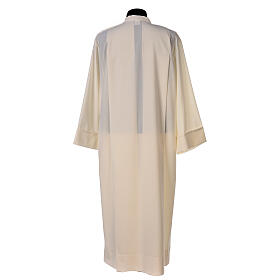 Liturgical Alb 55% polyester 45% wool with shoulder zipper, ivory color s4