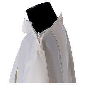 Aube ivoire 100% polyester deux plis col montant fermeture épaule s5