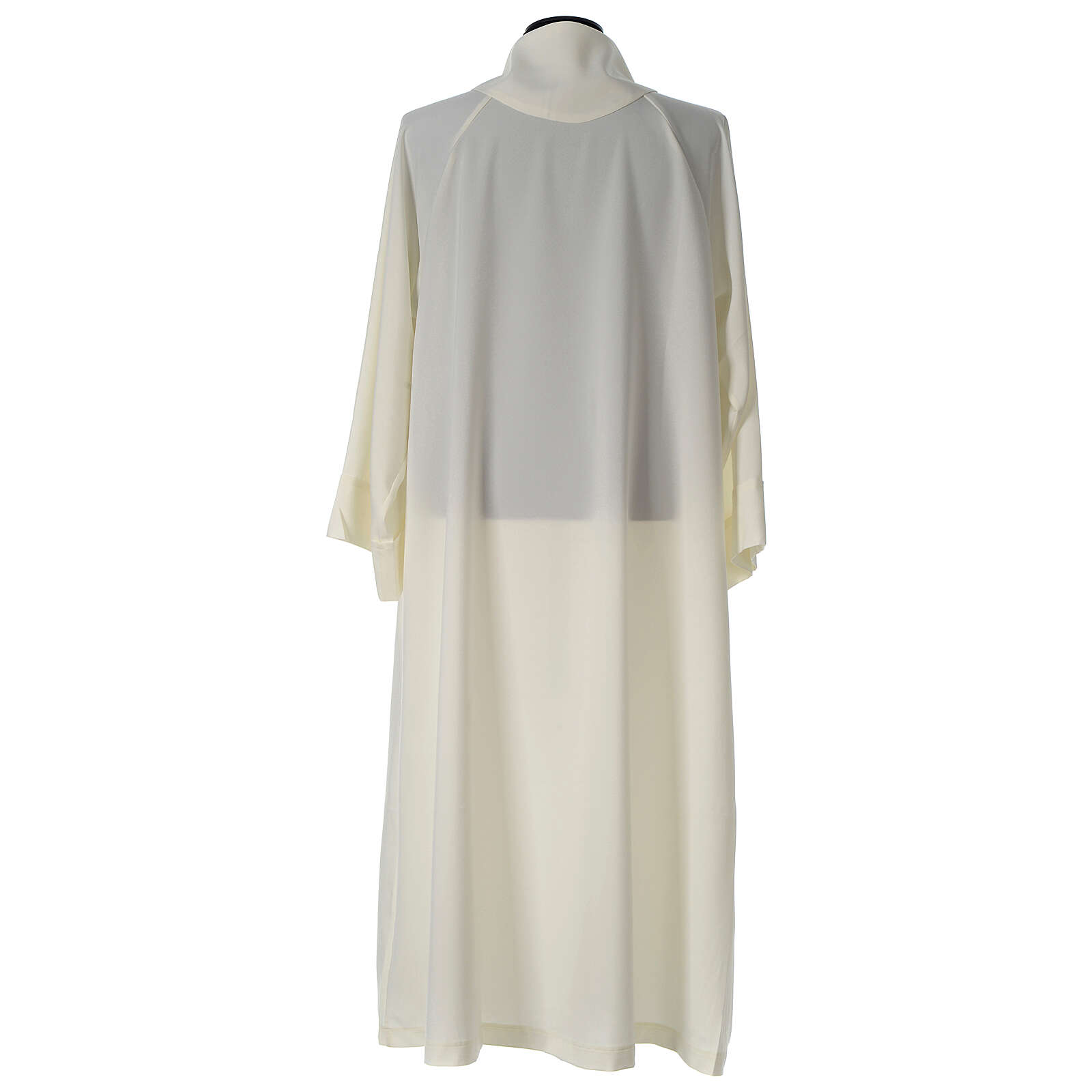 Alb in polyester, flared with fake hood, ivory 4