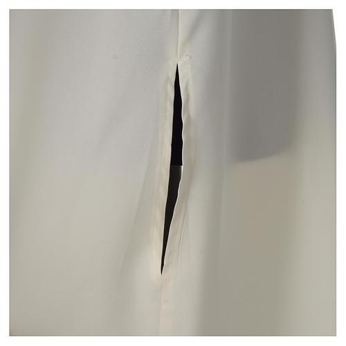 Alba marfil microfibra poliéster abocinada con capucha falsa 5