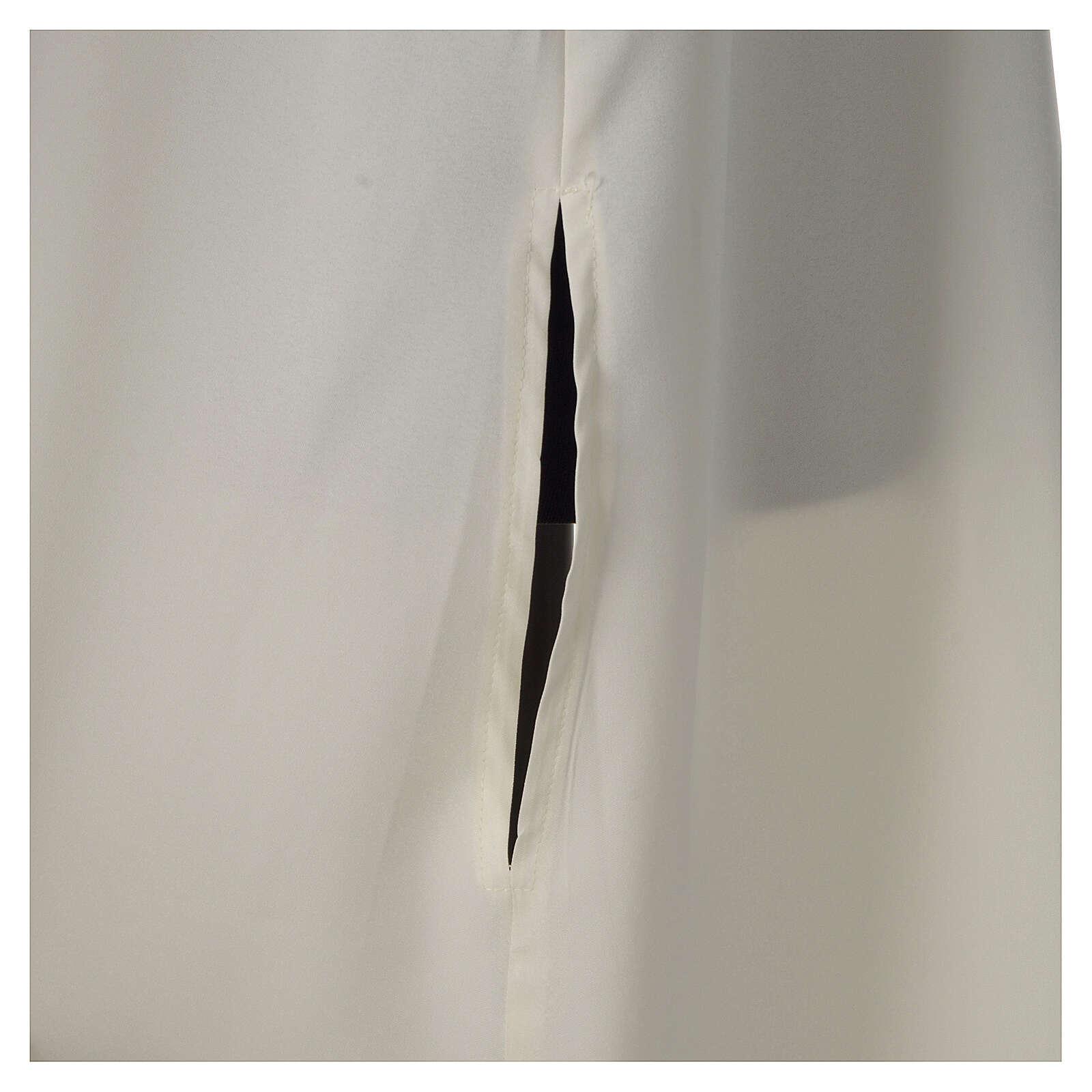Aube ivoire microfibre polyester évasée avec fausse capuche 4