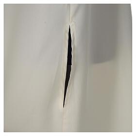 Aube ivoire microfibre polyester évasée avec fausse capuche s2