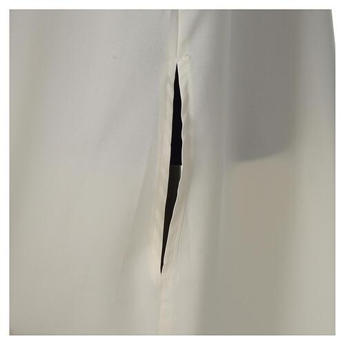 Aube ivoire microfibre polyester évasée avec fausse capuche 2