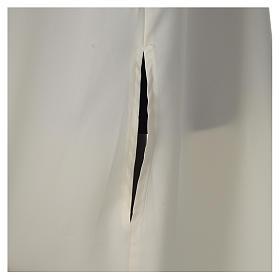 Camice avorio microfibra poliestere svasato con finto cappuccio s5