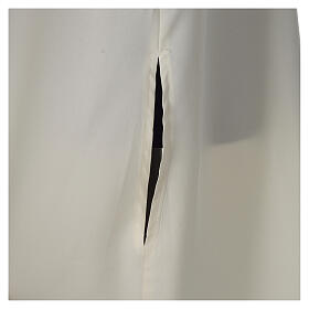 Alba kość słoniowa mikrofibra poliester rozszerzana z niby kapturem s2