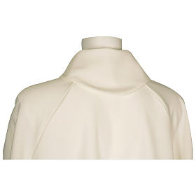 Monastic Alb in ivory in polyester, flared with fake hood s2