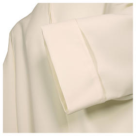 Alb in polyester, flared with zipper on the front, ivory s2