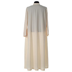 Alb in polyester, flared with zipper on the front, ivory s5