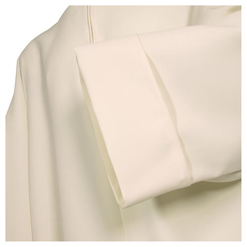 Alb in polyester, flared with zipper on the front, ivory 2
