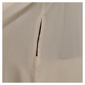 Alba kość słoniowa mikrofibra poliester rozszerzana stójka zamek z przodu s6