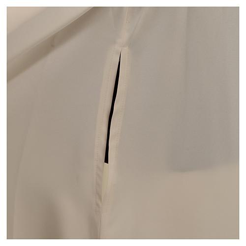 Alba kość słoniowa mikrofibra poliester rozszerzana stójka zamek z przodu 6