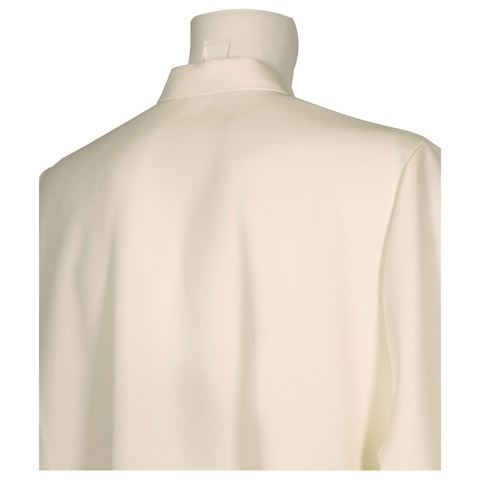 Front Zipper Alb in ivory in polyester, flared 4