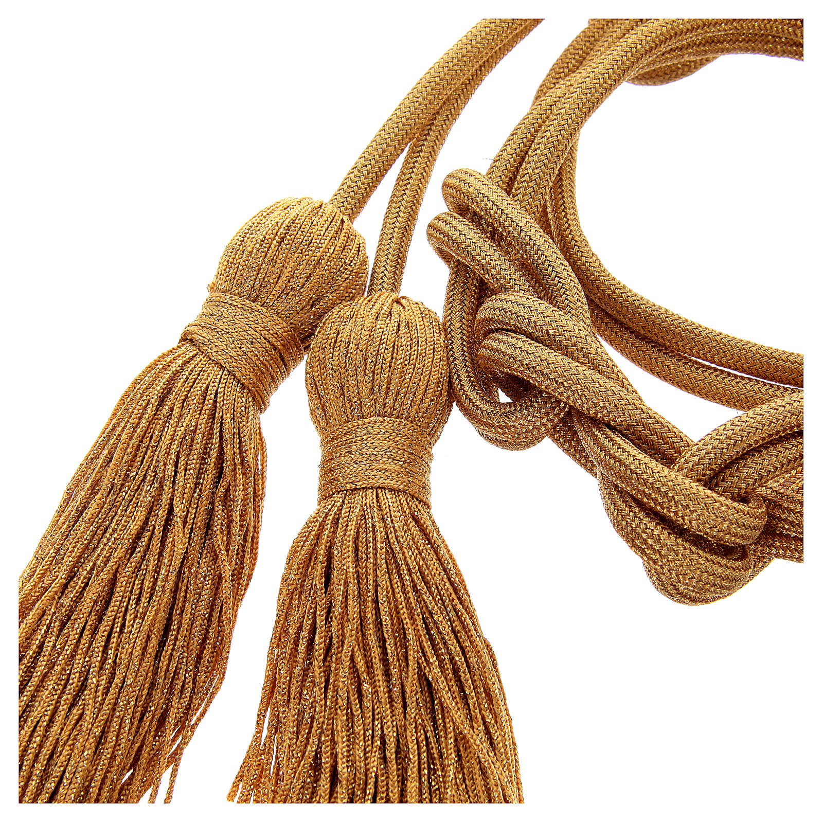 Gold rayon cincture with tassel 4