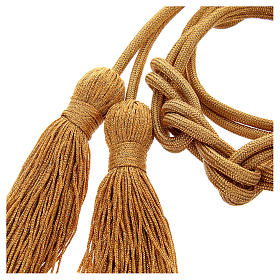 Gold rayon cincture with tassel s2