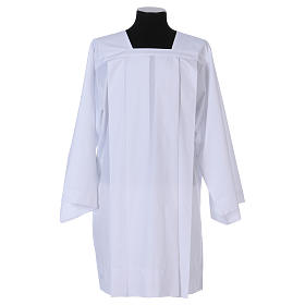 Albs: Surplice 65% polyester 35% cotton, 4 pleats, white
