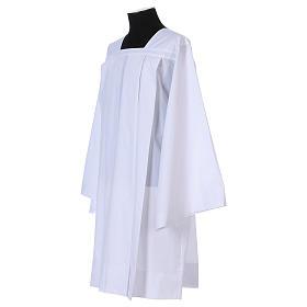 Surplice 65% polyester 35% cotton, 4 pleats, white s3