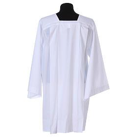 Surplice 65% polyester 35% cotton, 4 pleats, white s4
