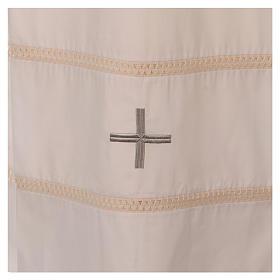 STOCK Aube ivoire avec croix et ourlet à jour s2