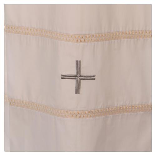STOCK Aube ivoire avec croix et ourlet à jour 2