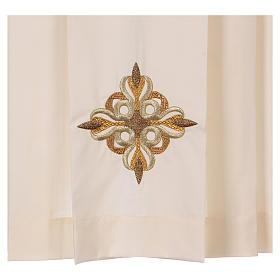 Surplis couleur ivoire 50% coton 50% polyester plissé s2