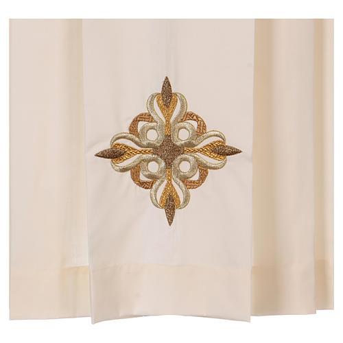 Surplis couleur ivoire 50% coton 50% polyester plissé 2