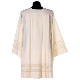 Surplis couleur ivoire 55% polyester 45% laine décorations dorées s4