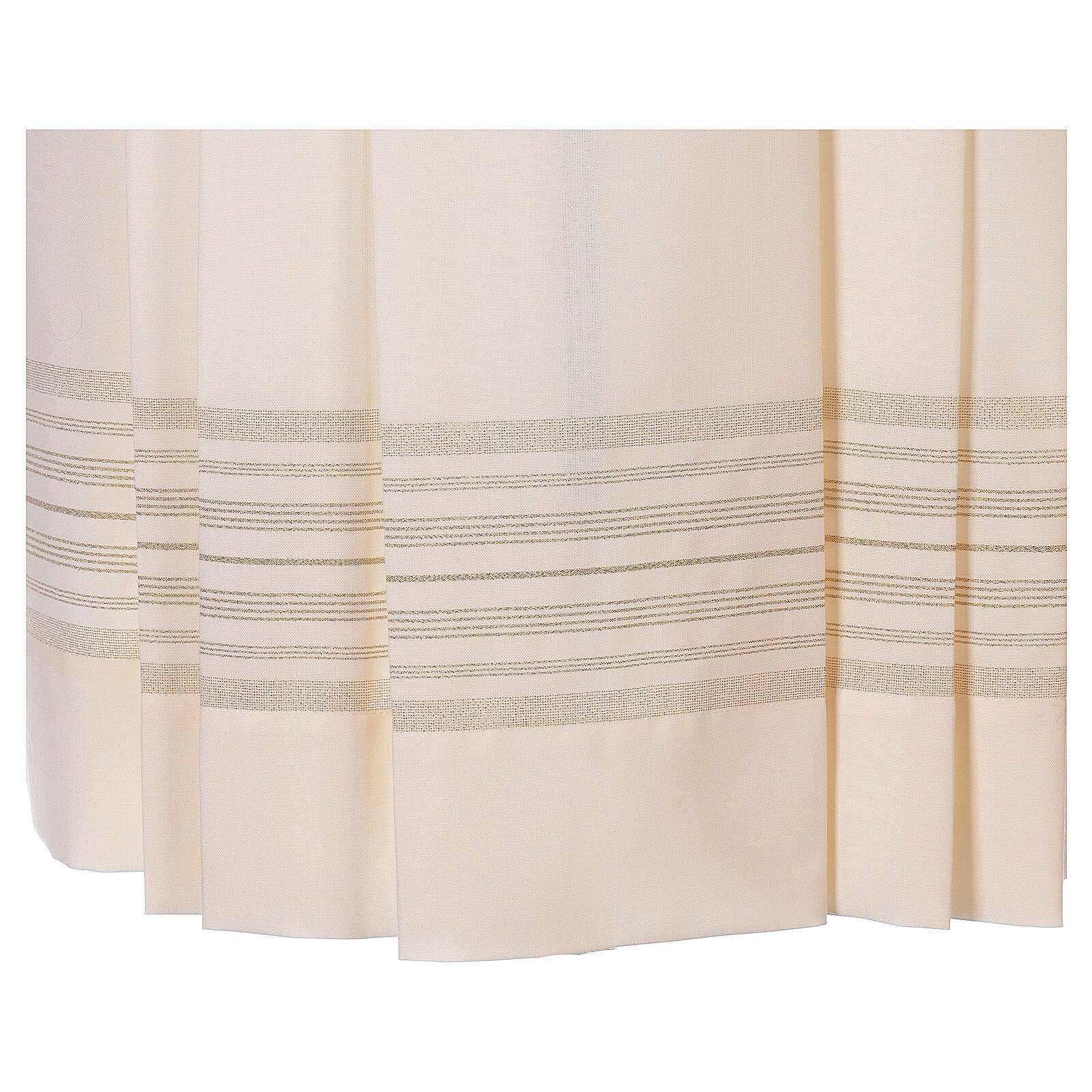 Ivory surplice with golden decorations, 55% polyester 45% wool 4