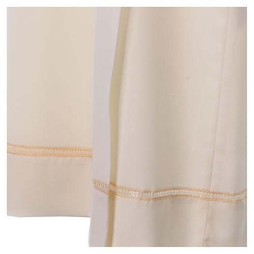 Camice avorio 55% lana 45% poliestere cerniera davanti gigliuccio 2