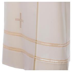 Albe Polyester und Wolle elfenbeinfarbig Reissverschluss vorne s2