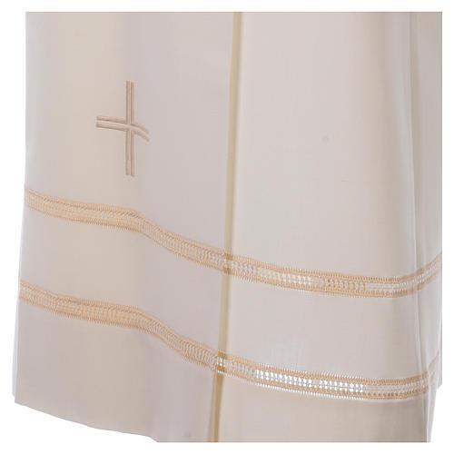 Aube ivoire 55% laine 45% polyester fermeture éclair avant 2