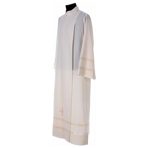Aube ivoire 55% laine 45% polyester fermeture éclair avant 3