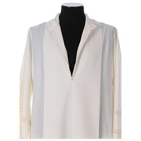 Ivory alb 55% alb 45% polyester front zipper s4