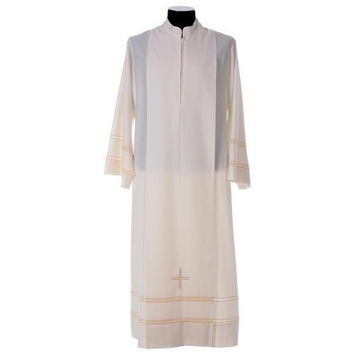 Ivory alb 55% alb 45% polyester front zipper 1