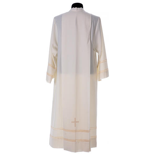 Ivory alb 55% alb 45% polyester front zipper 5