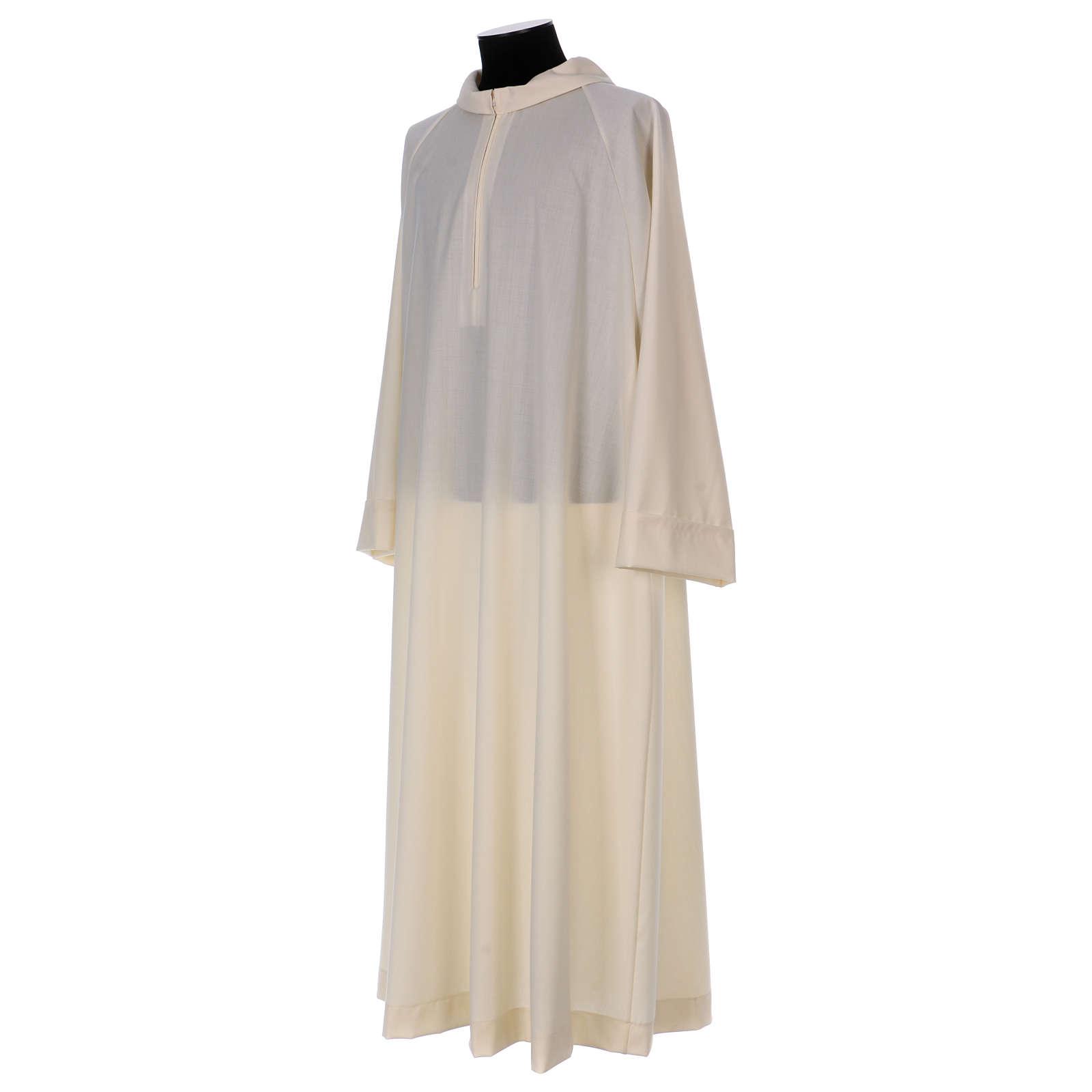Camice avorio 100% pura lana cerniera davanti 4