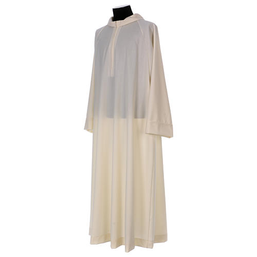 Camice avorio 100% pura lana cerniera davanti 2